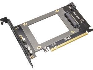 "Syba SY-MRA25060 2.5"" U.2 NVMe Drive to PCI Express x16 Slot Card or SATA III SSD/HDD PCI Mount"