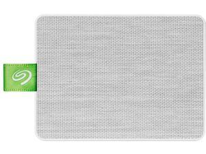 Seagate Ultra Touch SSD 500GB External Solid State Drive Portable - White USB-C USB 3.0 for PC MAC and Lynx for Android, Mylio and Adobe (STJW500400)