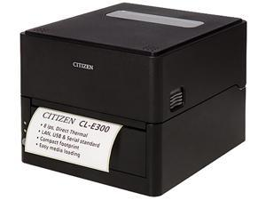 Citizen CL-E300XUBNNA CL-E300 Series Compact LAN-as-standard Direct Thermal Barcode and Label Printer – USB/LAN/Serial – Black