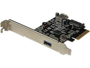 StarTech 2-Port USB 3.1 (10Gbps) Card, USB-A, 1x External, 1x Internal, PCIe