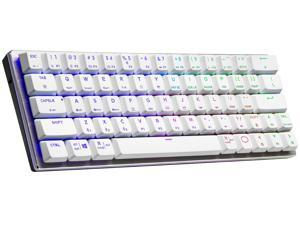 Cooler Master SK622 Silver White Wireless 60% Mechanical Keyboard with Low Profile Red Switches, New and Improved Keycaps, and Brushed Aluminum Design