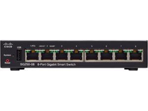 Cisco - SG250-08-K9-NA - Cisco SG250-08 8-Port Gigabit Smart Switch - 8 Ports - Manageable - 2 Layer Supported - Twisted