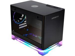 In Win A1 PLUS BLACK Mini-ITX Tower with Integrated ARGB Lighting and 650W 80 PLUS Gold Power Supply, Black