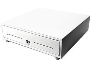 STAR MICRONICS MCD41413WTC35 CASH DRAWER WHITE 14WX13D PRINTER DRIVEN 3BILL5COIN FOR CANADA 2 MEDIA SLOTS CABLE INCLUDED