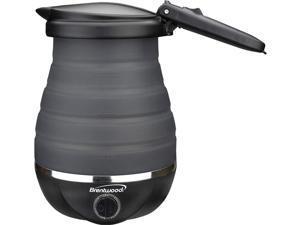Brentwood KT-1508BK Dual Voltage 120/220v 0.8L 800W Travel Water Kettle Black