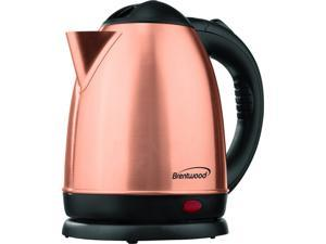 Brentwood Appliances KT-1780RG 1.5-Liter Stainless Steel Cordless Electric Kettle (Rose Gold)