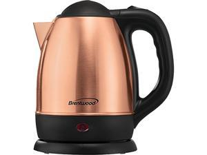 BRENTWOOD(R) APPLIANCES KT-1770RG 1.2-Liter Stainless Steel Cordless Electric Kettle (Rose Gold)