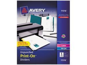 Avery Big Tab Insertable Dividers Buff Paper Clear Tabs 5 Tab Set 11110