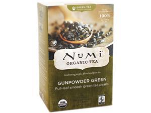 Num 10109 Organic Teas and Teasans, 1.27 oz, Gunpowder Green, 18/Box