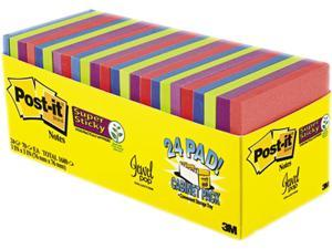 Post-it Pads in Rio de Janeiro Colors 3 x 3 70-Sheet 24/Pack 65424SSAUCP