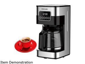BOSCARE 10 Cups Programmable Coffee Maker CM1429TA-UL, Keep Warm Drip Coffee Machine, with Permanent Filter Coffee Maker