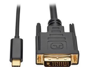 4XEM USB-C to DVI Cable 6ft-Black 4XUSBCDVI6B