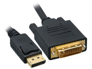 Offex DisplayPort to DVI Video Cable, DisplayPort Male to DVI Male, 10 foot