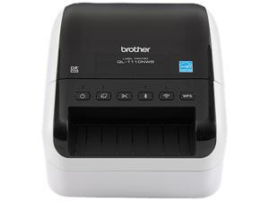 """Brother QL-1110NWB 4"""" Wide Format, Professional Direct Thermal Label Printer, USB, USB Host, Bluetooth 2.1+EDR, Wireless (b/g/n), Ethernet, WirelessDirect, Auto Cutter - White/Black"""