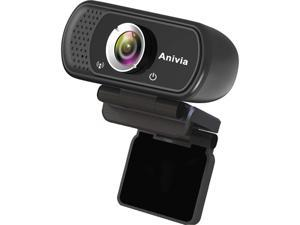 Anivia 1080p HD Webcam W5, USB Desktop Laptop Camera, Mini Plug and Play Video Calling Computer Camera, Built-in Mic, Flexible Rotatable Clip