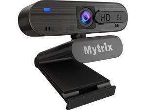 Mytrix AutoFocus Full HD 1080P PC USB Webcam with Privacy Protector, Dual Denoise Microphone for Conferencing and Video Calling, 360 Degree Rotation, Highly Compatible for Windows, MAC, Skype, Zoom