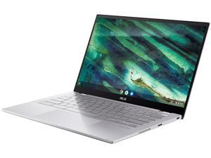 "ASUS Chromebook Flip C436 2-in-1 Laptop, 14"" Touchscreen FHD 4-Way NanoEdge, Intel Core i3-10110U, 128 GB PCIe SSD, Fingerprint, Backlit KB, Wi-Fi 6, Chrome OS, C436FA-DS388T, Magnesium-Alloy, Silver"