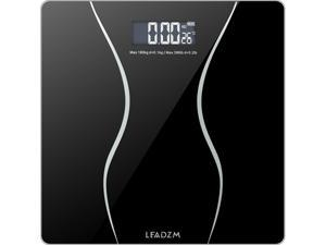 180kgs Digital Electronic LCD Personal Glass Bathroom Body Weight Scales Black