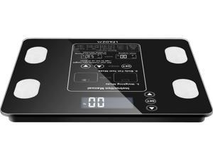Xmas GIFT 180kg/396lb Digital Bathroom Scale Toughened Glass Electronic Weight Scale Black