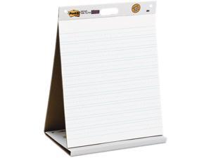 Post-it  Easel Pads 563PRL, Self-Stick Tabletop Easel Ruled Pad, Command Strips, 20 x 23, White, 20 Shts/Pad