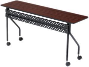 Officeworks Mobile Training Table, 60w X 18d X 29h, Mahogany/black
