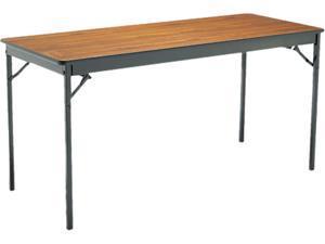 Special Size Folding Table, Rectangular, 60W X 24D X 30H, Walnut/Black