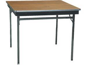 Special Size Folding Table, Square, 36W X 36D X 30H, Walnut/Black