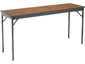Special Size Folding Table, Rectangular, 60W X 18D X 30H, Walnut/Black