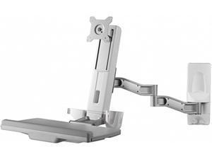 Amer Mounts AMR1WSL: Articulating Sit/Stand Extended Workstation - Wall Mount - Displays up to 32 inch LCD/LED Screens