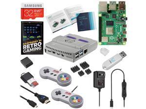 Vilros Raspberry Pi 4 SNES Style Retro Gaming Kit-Includes 2 SNES Style Gamepads and SNES Style Case (8 GB)