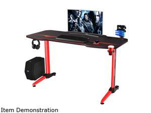 Homall 55 Inch Gaming Desk  PC Computer Desk Home Office Table T-shaped Frame Table for Pressional Game Lover with Free Mouse Pad, Headphone Hook, Game Handle Rack and Cup Holder