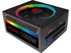 COOLMOON ATX Power Supply 1050W Fully Modular 80+ Gold Certified with Addressable RGB Light - Vairous Color Mode,  RGB-1050