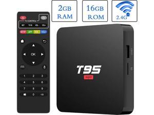 EASYTONE Android 10.0 TV Box, T95 Super TV Boxes Quad Core  2GB RAM 16GB ROM Media Player with 3D/4K/H.265 Smart Android TV Box