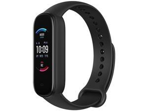 Amazfit Band 5 Fitness Tracker with Alexa Built-In, 15-Day Battery Life, Blood Oxygen, Heart Rate, Sleep Monitoring, Women's Health Tracking, Always-On Display, Music Control, Water Resistant, Black