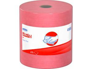 Wypall X80 Reusable Wipes (41055), Extended Use Cloths Jumbo Roll, Red, 475 Sheets / Roll; 1 Roll / Case