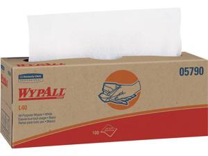 WypAll L40 Disposable Cleaning and Drying Towels (05790), Limited Use Towels, White, 9 Pop Up Boxes per Case, 100 Sheets per Box, 900 Sheets Total