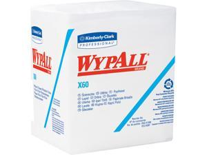 WypAll X60 Reusable Cloths (34865) Quarterfold Washcloths, White, 76 Sheets / Pack, 12 Packs / Case, 912 Washcloths / Case
