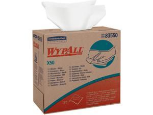 WypAll X50 Disposable Cloths (83550), Strong for Extended Use, POP-UP Box, White, 10 Boxes / Case, 176 Sheets / Box, 1,760 Sheets / Case