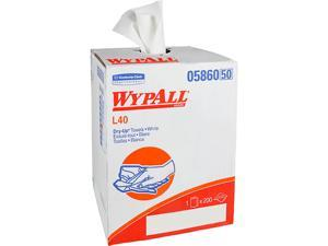 """WypAll L40 Disposable Cleaning and Drying Towels """"DRY-UP"""" Towels (05860), Limited Use Towels, White, 1 Roll / Box, 200 Towels"""