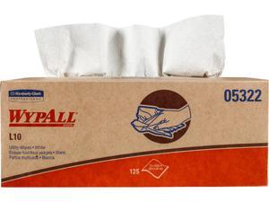 WypAll L10 Disposable Towels (05322), Limited Use, 1-PLY, Pop-Up Box, White, 18 Boxes / Case, 125 Large Wipes / Box