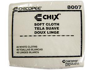 Chix Soft Cloths 13 x 15 White 1200/Carton 8007