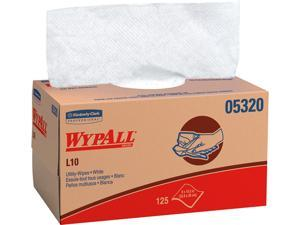 WypAll L10 Paper Wipers, White, 125 Wipes/Pack 05320