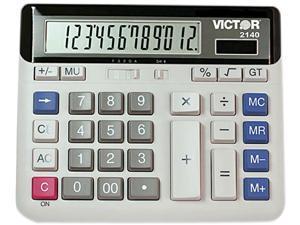 VICTOR 2140 Desktop Calculator,Basic,6in.Lx7-1/2in.W