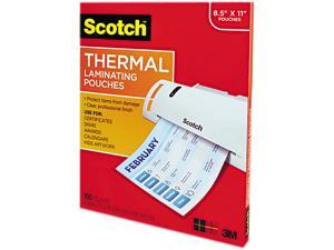 """Scotch Thermal Laminating Pouches, 8 7/8"""" x 11 3/8"""", Pack Of 100"""