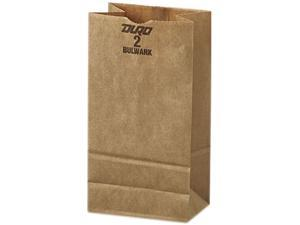 General 2# Paper Bag, 50-Pound Base, Brown Kraft, 4-5/16 X 2-7/16 X 7-