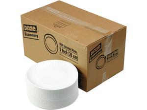 "White Paper Plates, 9"" dia., 4 Packs of 250/Carton"