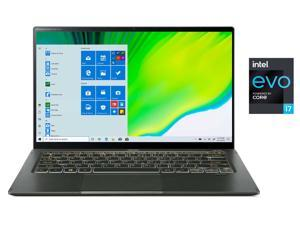"Acer Laptop Swift 5 SF514-55TA-74EC Intel Core i7 11th Gen 1165G7 (2.80 GHz) 16 GB LPDDR4X Memory 1 TB NVMe SSD Intel Iris Xe Graphics 14"" IPS Touchscreen 1920 x 1080 Windows 10 Home 64-bit"
