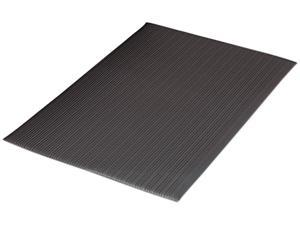 Guardian Air Step Antifatigue Mat, Polypropylene, 36 x 144, Black