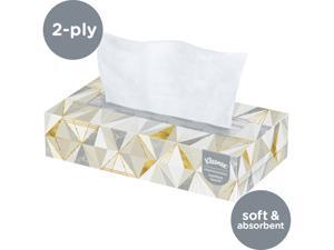Kleenex Professional Facial Tissue for Business (21606), Flat Tissue Boxes, 48 Boxes / Case, 125 Tissues / Box