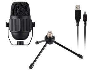 Monoprice USB Large Condenser Microphone With Stand, Plug and Play, Compatible With iOS And Android Mobile Devices - Stage Right Series